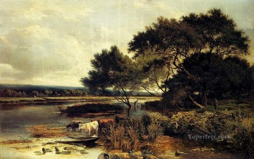 Streatly On Thames landscape Sidney Richard Percy brook Oil Paintings